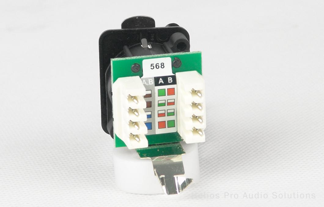 Neutrik ne8 fdv yk b connectoren utp helios online - Meubilair storage zwart ...