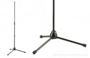 K&M 201A/2: Microphone stand - black
