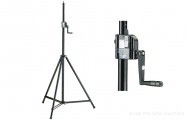 K&M 246/1: Lighting/Speaker stand - black
